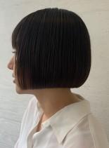 コンパクトなワンレンボブ(髪型ボブ)
