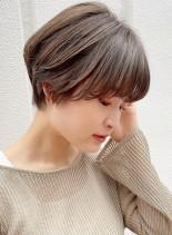 丸みがかわいい☆マッシュショート☆(髪型ショートヘア)
