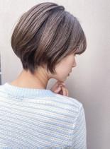 毛先が収まり◎ナチュラルショート(髪型ショートヘア)