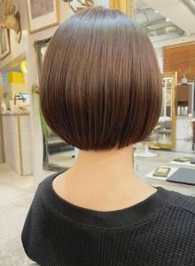 髪質改善ツヤ髪丸みショートボブ