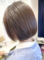 艶ブラウン♪シンプルオシャレなミニボブ☆(髪型ボブ)