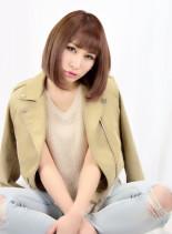 イルミナコーラルピンクミッシェル(髪型ボブ)