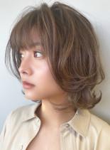 ルーセントセピア×レイヤーハイライト(髪型ボブ)