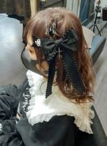 病みかわリボン(髪型セミロング)