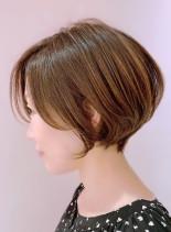 まるみショートボブ(髪型ショートヘア)