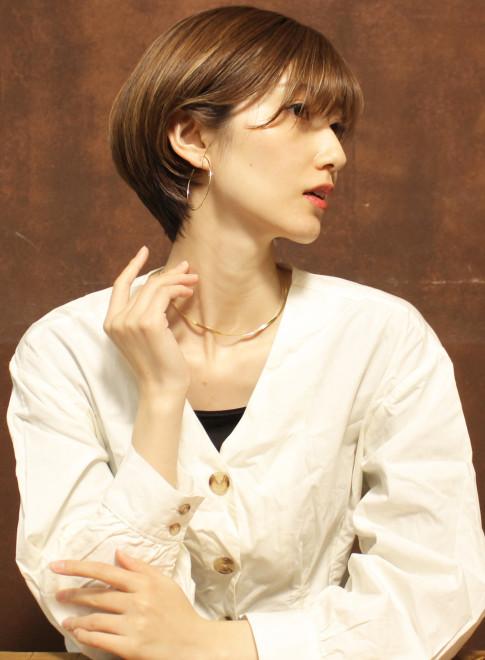 横顔美人☆ショートボブ(ビューティーナビ)