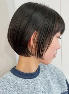 首が綺麗に☆黒髪でも可愛いミニボブ(ビューティーナビ)