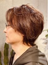 40・50代カッコいい大人ウルフヘアー(髪型メンズ)