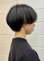 マッシュショート×インナーカラー(髪型ショートヘア)