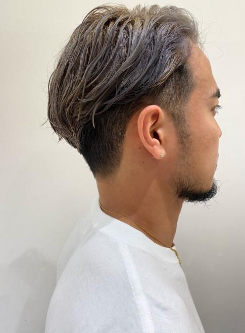 大人の前髪なしツーブロック(ビューティーナビ)