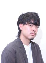 ツーブロックマッシュウルフ(髪型メンズ)