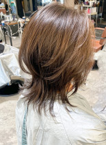 30代40代 ひし形ミディアムショート(髪型ミディアム)