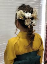 卒業式 羽織袴(髪型ロング)