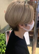 マッシュショートスタイル(髪型ショートヘア)