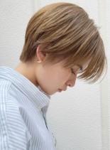 ハンサムショート☆アッシュベージュ(髪型ショートヘア)