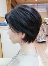 30代40代50代お手入れ簡単なショート(髪型ショートヘア)