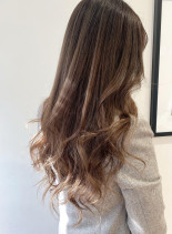 髪質改善矯正×巻き髪(髪型ロング)