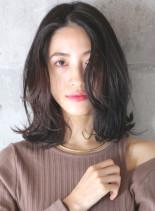 柔らかい質感◇大人パーマミディアム(髪型ミディアム)