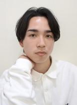 スリークショート×黒髪(髪型メンズ)