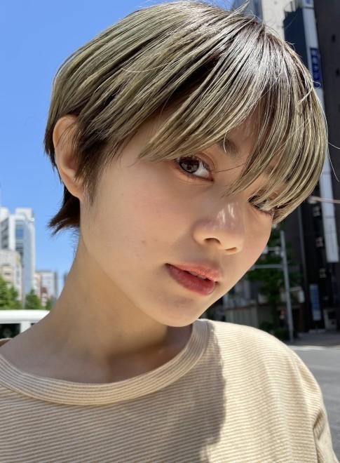 マッシュショート☆ハイトーン(ビューティーナビ)