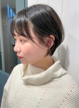耳掛けショートボブ♪(髪型ショートヘア)