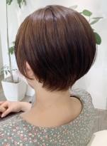 30代からの前髪なしハンサムショート