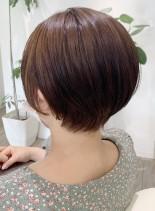 30代からの前髪なしハンサムショート(髪型ショートヘア)