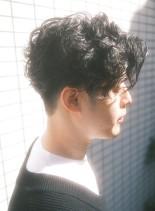 人気ランキングツーブロックメンズパーマ(髪型メンズ)