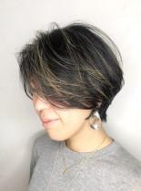 ハイライトモードショート(髪型ショートヘア)