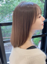 髪質改善酸熱トリートメントでツヤサラ髪。(髪型ミディアム)