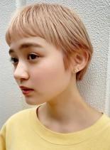 ワイドバングがかわいいコンパクトショート(髪型ベリーショート)