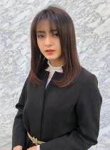 ワンレンミディアム(髪型セミロング)