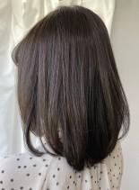 【綺麗にまとまる・大人ミディアム】(髪型ミディアム)