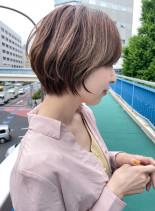 30代40代◎小顔ひし形ショート(髪型ショートヘア)