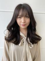 20代30代 韓国風レイヤースタイル(髪型ロング)