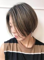 ショートから伸ばし中でもキマるボブ(髪型ショートヘア)