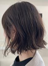 癖を活かした柔らかボブスタイル(髪型ボブ)