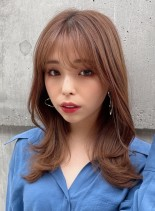 【30代大人女性へ・ミディアムレイヤー】(髪型セミロング)