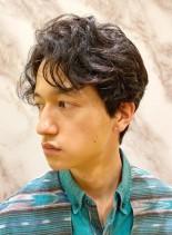 大人のニュアンスパーマ(髪型メンズ)
