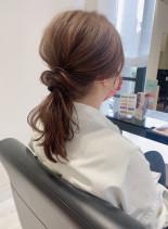どんなシーンにも合うアレンジヘア(髪型セミロング)