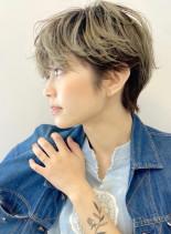 外国人風カラーハンサム大人ショート☆(髪型ショートヘア)