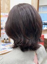 艶髪水素パーマ(髪型ミディアム)