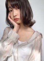 好印象 外ハネミディ(髪型ミディアム)