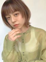 くびれレイヤー ニュアンスフェイスライン(髪型ボブ)