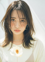 韓国風エギョモリヘア(髪型ミディアム)