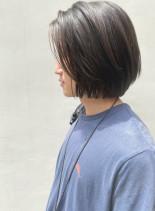 スタイリング簡単レイヤーボブ(髪型メンズ)