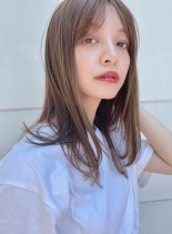 髪質改善で艶っとなびかせロング(髪型セミロング)