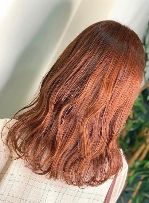 韓国風オレンジカラー(ビューティーナビ)