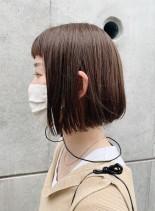 簡単ストレートミニボブ(髪型ボブ)