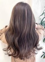 やわらかブラウンカラー(髪型ロング)